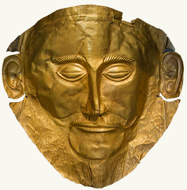 Agamemnon mask NAMA Athens Greece