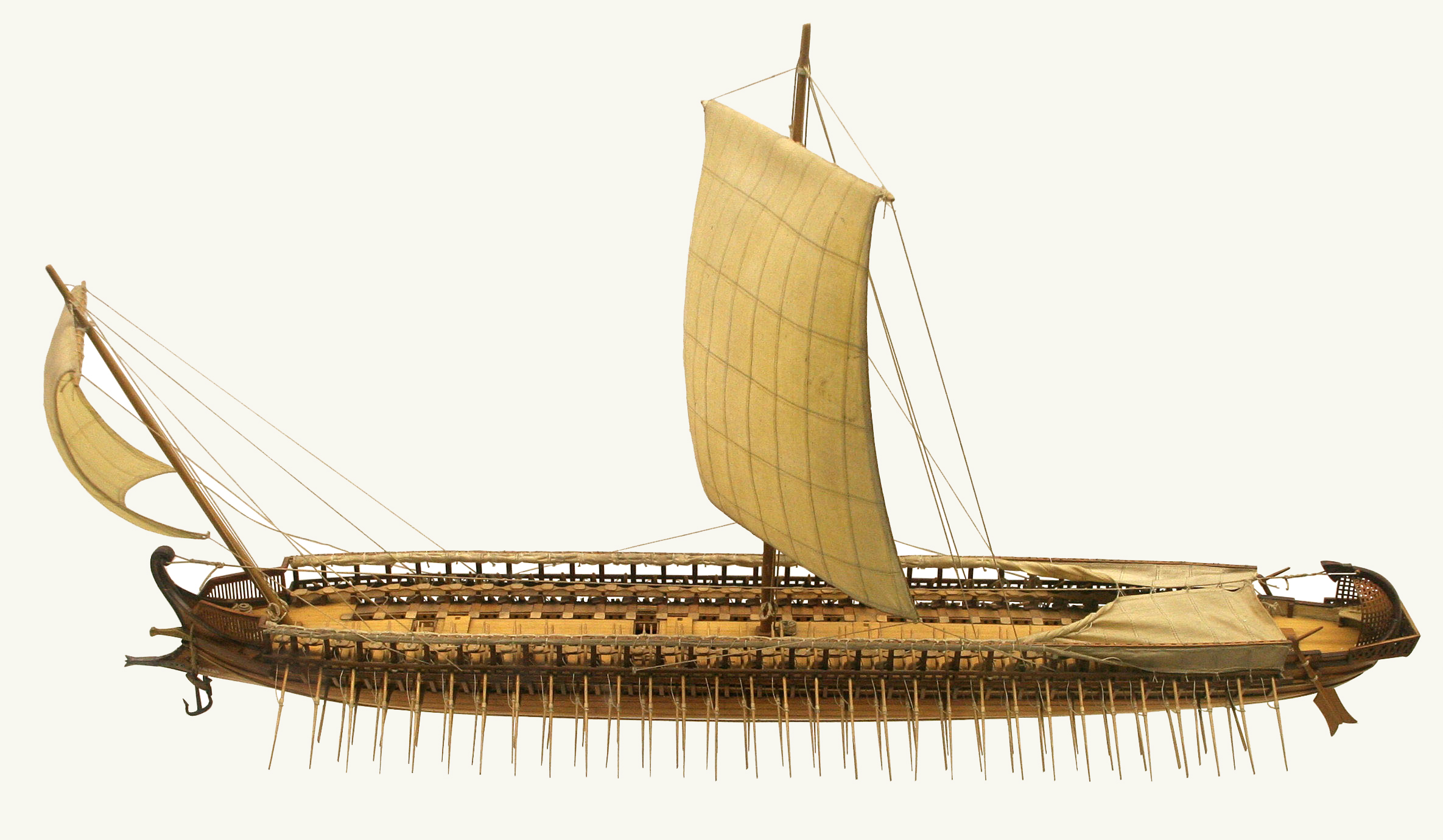 Model of a greek trireme