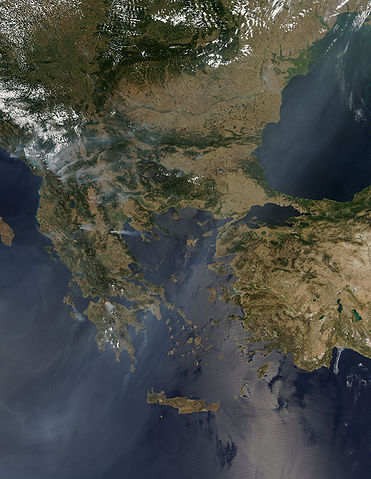 371px Balkan Fires Earth from Aqua EOS PM 1 2007 07 25