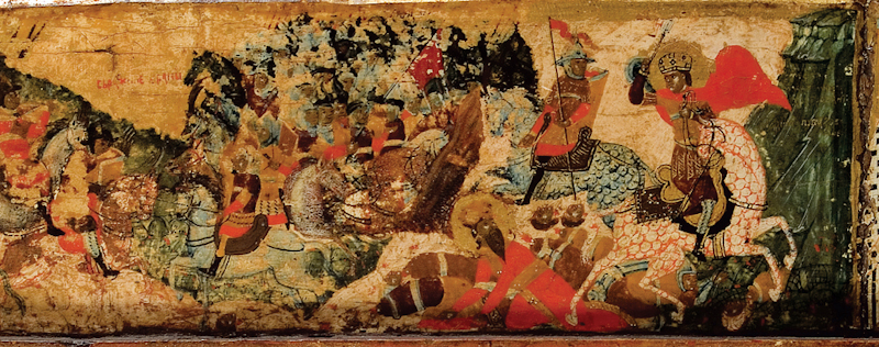 Battle of Velbud detail from Visoki Deani