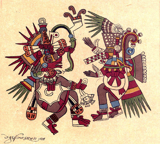 Quetzalcoatl and Tezcatlipoca