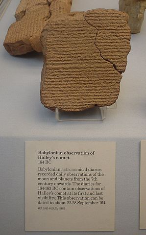 298px Babylonian tablet recording Halleys comet