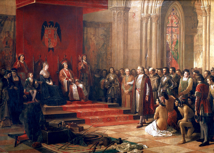 The return of Columbus in Spain 1493