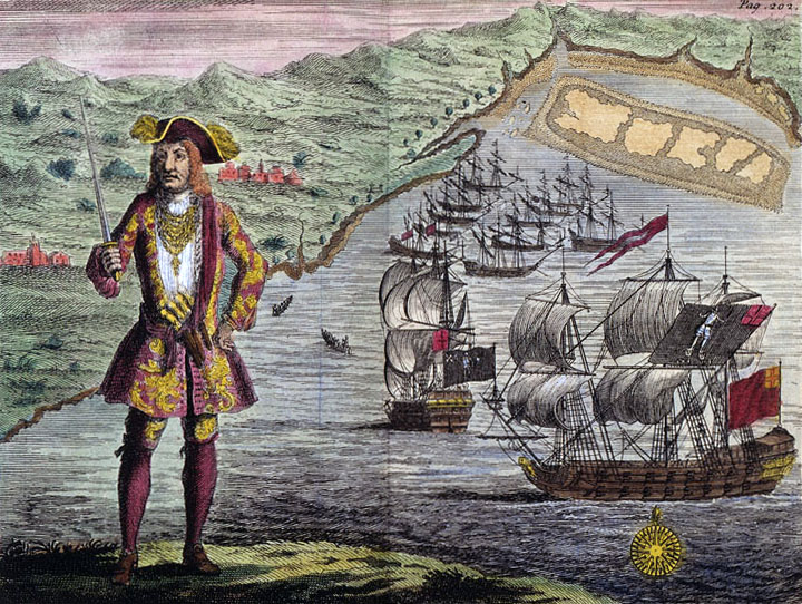 General History of the Robberies and Murders of the Most Notorious Pyrates Captain Bartholomew Roberts with two Ships