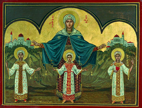 S.Sophia with daughters by Dimitrios Pelekasis