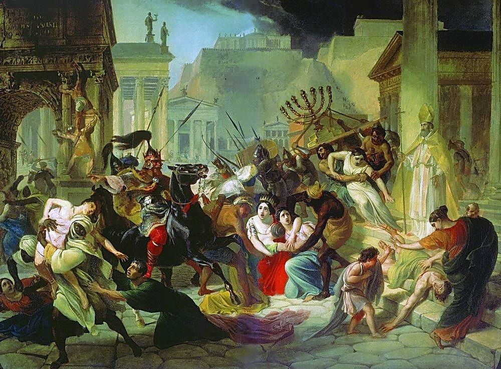 Genseric sacking Rome 455 The Sack of Rome Karl Briullov 1833 1836